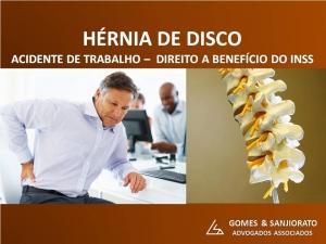 ACIDENTE DE TRABALHO (HÉRNIA DE DISCO)